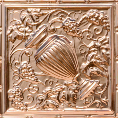 Grecian Urn - Copper Ceiling Tile - 24 in x 24 in - #2441