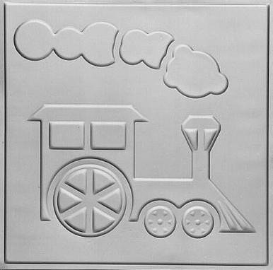 """Toy Train - Tin Ceiling Tile - 24""""x24"""" - #2480"""