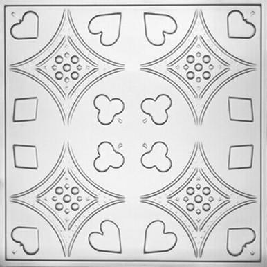 """Euchre - Tin Ceiling Tile - 24""""x24"""" - #2415"""