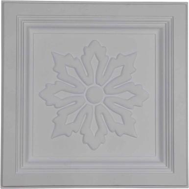 "Floral - Urethane Ceiling Tile - 24""x24"" -  #CT24X24FL"