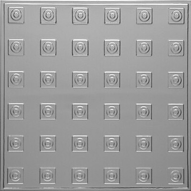 "Herald's Squares - Tin Ceiling Tile - 24""x24"" - #2479"