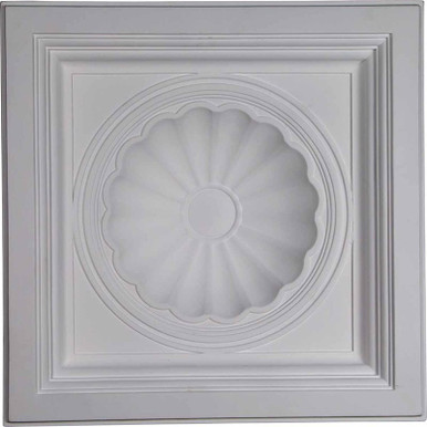 "Shell - Urethane Ceiling Tile - 24""x24"" -  #CT24X24SH"