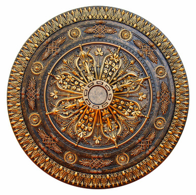 Arabic Caprice - FAD Hand Painted Ceiling Medallion 37 in- #CCMF-116