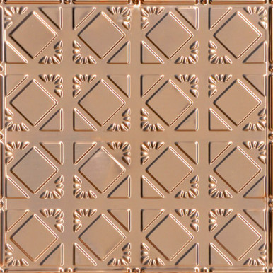 Abstract Diamondback - Copper Ceiling Tile - 24 in x 24 in - #0675