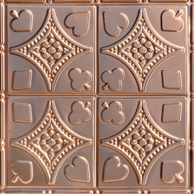High Stakes - Copper Ceiling Tile - 24 in x 24 in - #1215