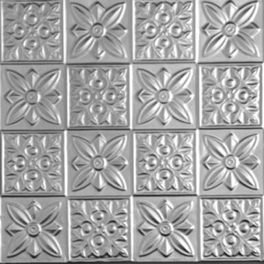 """Flower Power - Tin Ceiling Tile - 24""""x24"""" - #0612"""