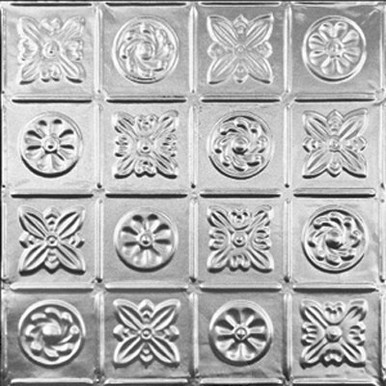 "Pinwheel - Tin Ceiling Tile - 24""x24"" - #0613"