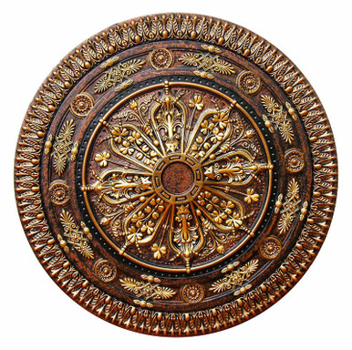 Arabic Caprice II - FAD Hand Painted Ceiling Medallion 37 in - #CCMF-116-2