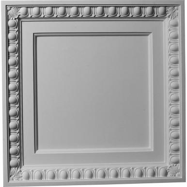 """Egg & Dart - Urethane Ceiling Tile - 24""""x24"""" -  #CT24X24EG"""