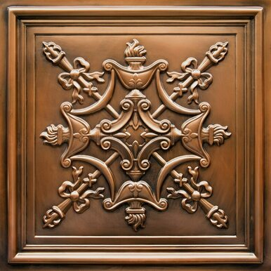 Faux Tin Ceiling Tile - 24 in x 24 in - #DCT 07