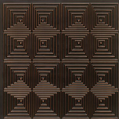 Jitterbug - Faux Tin Ceiling Tile - 24 in x 24 in - #115