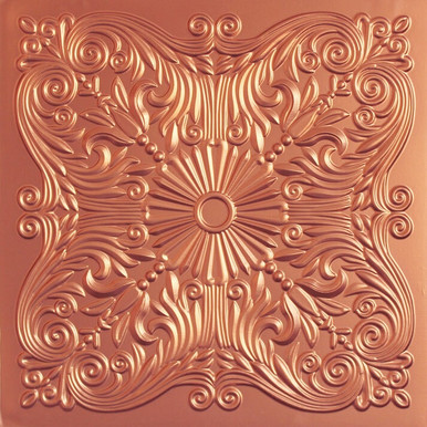 Faux Tin Ceiling Tile - 24 in x 24 in - #252