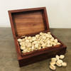 Wooden Handmade Carved Box with pistachio Nuts - FOR AUSTRALIA