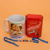 Rakhi with Personalized Mug and Chocolate