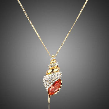 Winkles Design 18K Real Gold Plated Stellux Austrian Crystal Paved Necklace
