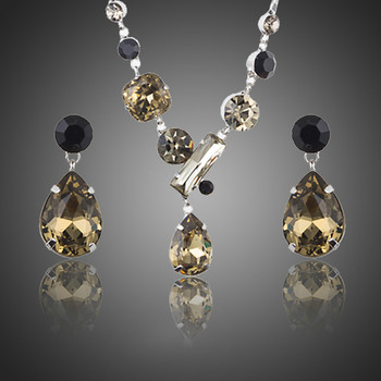 Swiss CZ Earrings and Necklace Set