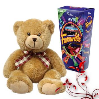 Teddy with Cadbury Favourite 300gm  - FOR AUSTRALIA