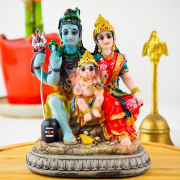 Shiv Parvati statue 3.5inch - FOR AUSTRALIA