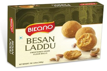 Delicious Besan Ladoo 400gm Haldiram or Bikano - FOR AUSTRALIA
