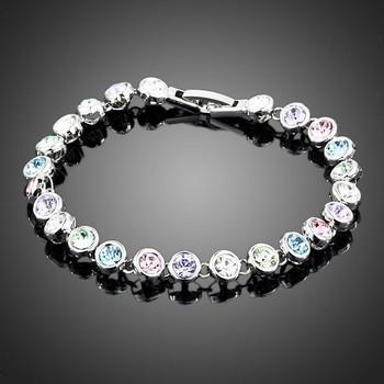 White Gold Stellux Austrian Crystal Bracelet