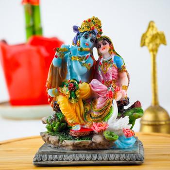 Radha Kishan statue 3.5inch with Soan Papdi- FOR AUSTRALIA