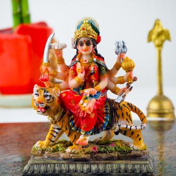 Maa Durga Statue 3.5inch with Soan Papdi