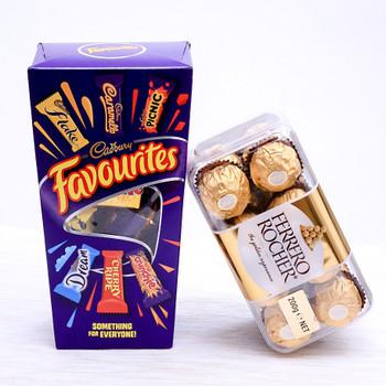 Cadbury's Favourite Chocolate & Ferrero Rocher Hamper  - FOR NEW ZEALAND