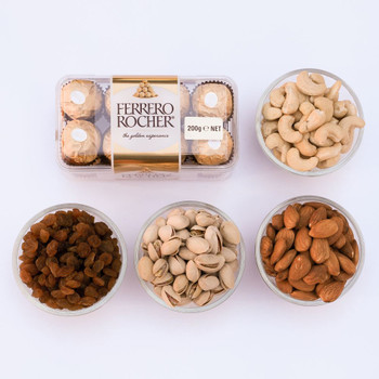 Ferrero Rocher & Mix Dry Fruit Combo - FOR AUSTRALIA