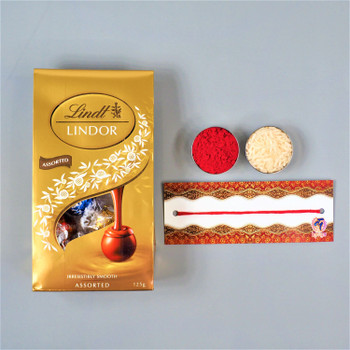 Bhaidooj Kalava With Lindt Chocolate  - FOR AUSTRALIA