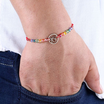 Ek Onkar rakhi in red thread - FOR AUSTRALIA