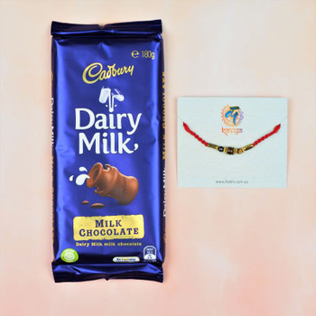 Tiger Stone Rakhi With Dairymilk Big Chocolate 180gm  - FOR AUSTRALIA