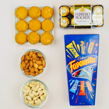 Besan Laddu with Chocolates and Dry Fruits   - FOR AUSTRALIA