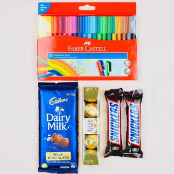 Colors and Chocolates Hamper - FOR AUSTRALIA