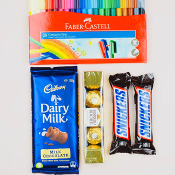 Colors and Chocolates Hamper - FOR AUSTRALIA