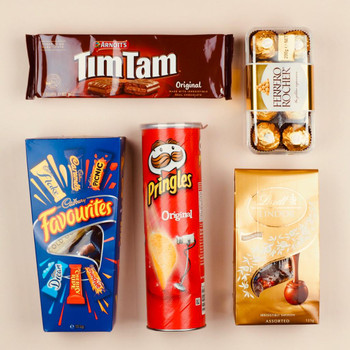 Chips Chocolates and Biscuits Hamper  - FOR AUSTRALIA
