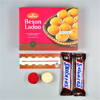 Bhaidooj Celebration with Besan Laddu & Snickers  - FOR AUSTRALIA
