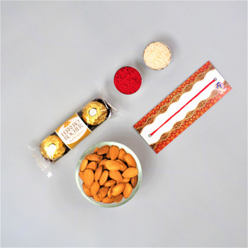 Bhaidooj Almond and Choco Hamper  - FOR AUSTRALIA