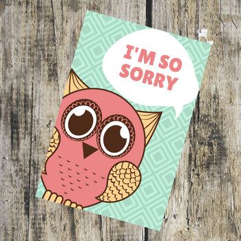 I'm So Sorry Greeting Card - FOR AUSTRALIA