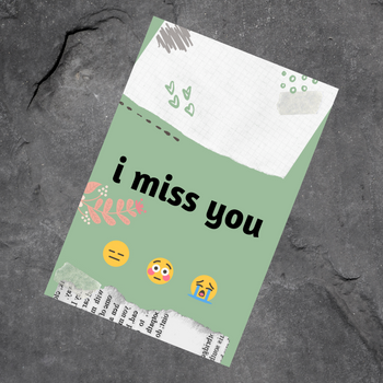 I Miss You Greeting Card - FOR AUSTRALIA
