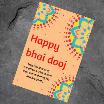 Bhai Dooj Card Greeting Card - FOR AUSTRALIA
