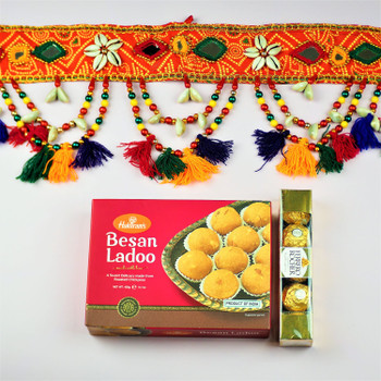Traditional Toran with Sweet  - FOR AUSTRALIA