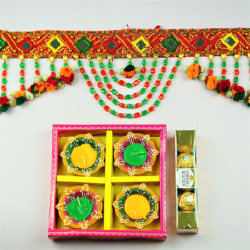 Traditional Toran, Diya & Ferrero Rocher  - FOR AUSTRALIA