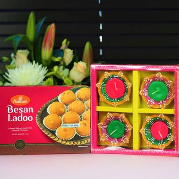 Beason Laddoo with 4 Diya - FOR AUSTRALIA