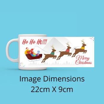 HO HO HO Christmas Personalised Mug
