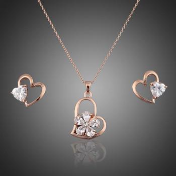 Crystal Heart Earrings & Necklace - For Australia