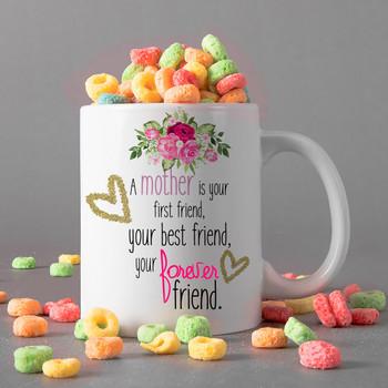 Mum The Best Friend Personalised Mug
