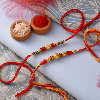 Beautiful Two Rakhi Set