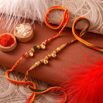 Two Beautiful Rakhi Set for India