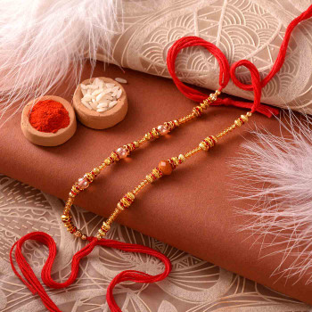 Beautiful Two Rakhi Set for India
