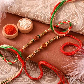 Rudraksh Rakhi Set for India